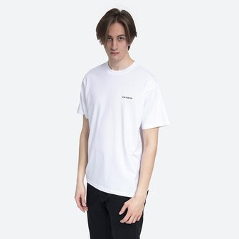 Carhartt WIP S/S Script Embroidery T-Shirt I025778 WHITE/BLACK