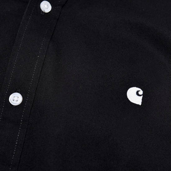 Carhartt Madison Shirt I023339 BLACK/WHITE