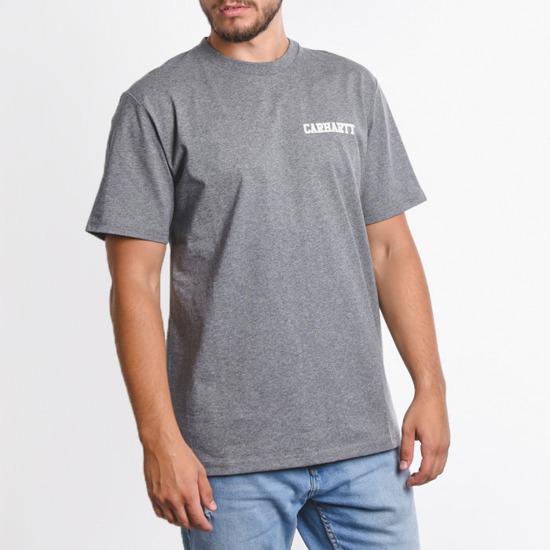 Carhartt WIP College Script I024806 Dark Grey Heather/White