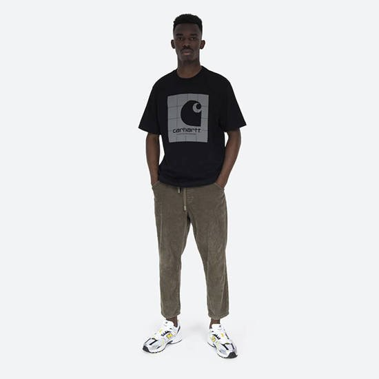 Carhartt WIP Reflective Square T-shirt I028461 BLACK/REFLECTIVE GREY