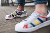 "Sneakerși pentru femei adidas Superstar x White Mountaineering ""Grey Multi"" AQ0352"
